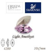 SWAROVSKI® ELEMENTS 4200 Navette - Light Amethyst, 10x5mm, bal.1ks