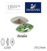 SWAROVSKI® ELEMENTS 4200 Navette - Peridot, 10x5mm, bal.1ks