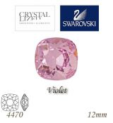 SWAROVSKI® ELEMENTS 4470 Square Rhinestone - Violet, 12mm, bal.1ks
