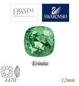 SWAROVSKI® ELEMENTS 4470 Square Rhinestone - Erinite, 12mm, bal.1ks