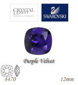 SWAROVSKI® ELEMENTS 4470 Square Rhinestone - Purple Velvet, 12mm, bal.1ks