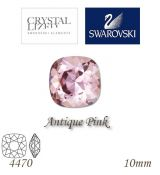 SWAROVSKI® ELEMENTS 4470 Square Rhinestone - Antique Pink, 10mm, bal.1ks