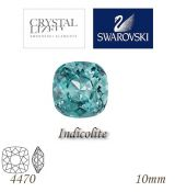 SWAROVSKI® ELEMENTS 4470 Square Rhinestone - Indicolite, 10mm, bal.1ks