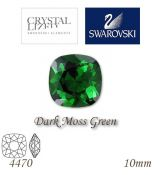SWAROVSKI® ELEMENTS 4470 Square Rhinestone - Dark Moss Green, 10mm, bal.1ks