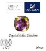 SWAROVSKI® ELEMENTS 4470 Square Rhinestone - Crystal Lilac Shadow, 10mm, bal.1ks