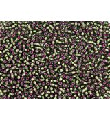 Toho Round TR-11-2204 Silver-Lined Frosted Olivine - Pink Lined
